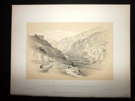 David Roberts Holy Land 1887 Print. Lower Pool of Siloam Valley of Jehoshaphat